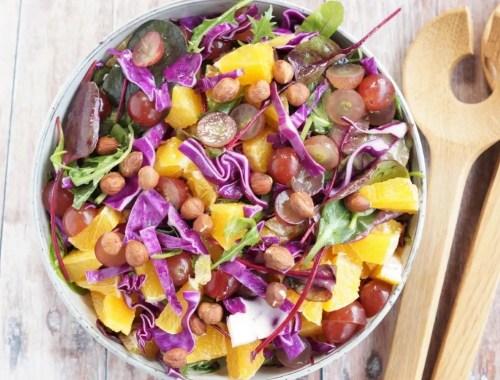 Salat med rød spidskål