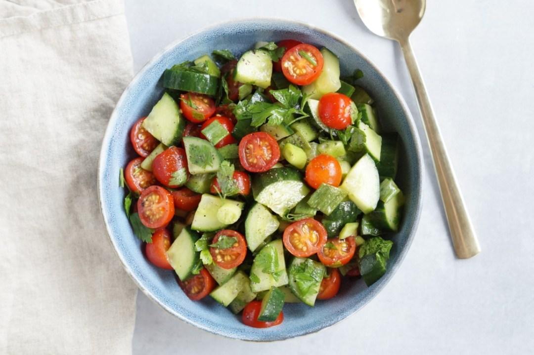 Tomat med agurk