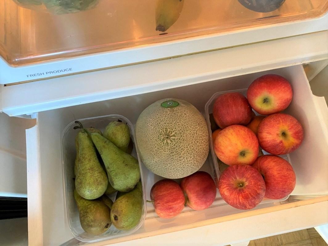 frugt i køleskabet