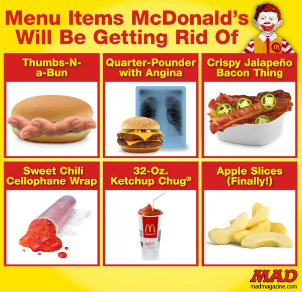 Menu Items McDonald's Will Be Getting Rid of | Mad Magazine