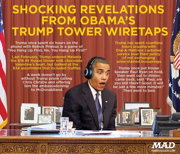 SHOCKING REVELATIONS FROM OBAMA'S TRUMP TOWER WIRETAPS ...