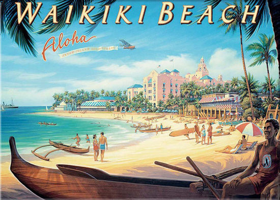 Hawaii Waikiki Beach Aloha Inter Island Airways Mad Men
