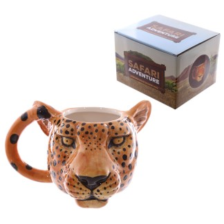 Mad Merch Leopard Head Mug
