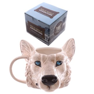 Mad Merch Wolf Head Mug