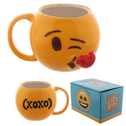 Kiss Emoji Mug