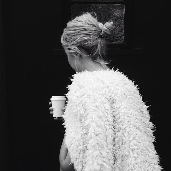 girl coffee fur