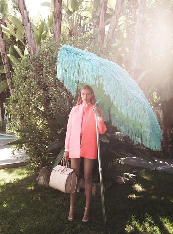 C Magazine pink coat