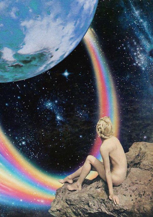 earth rainbow girl