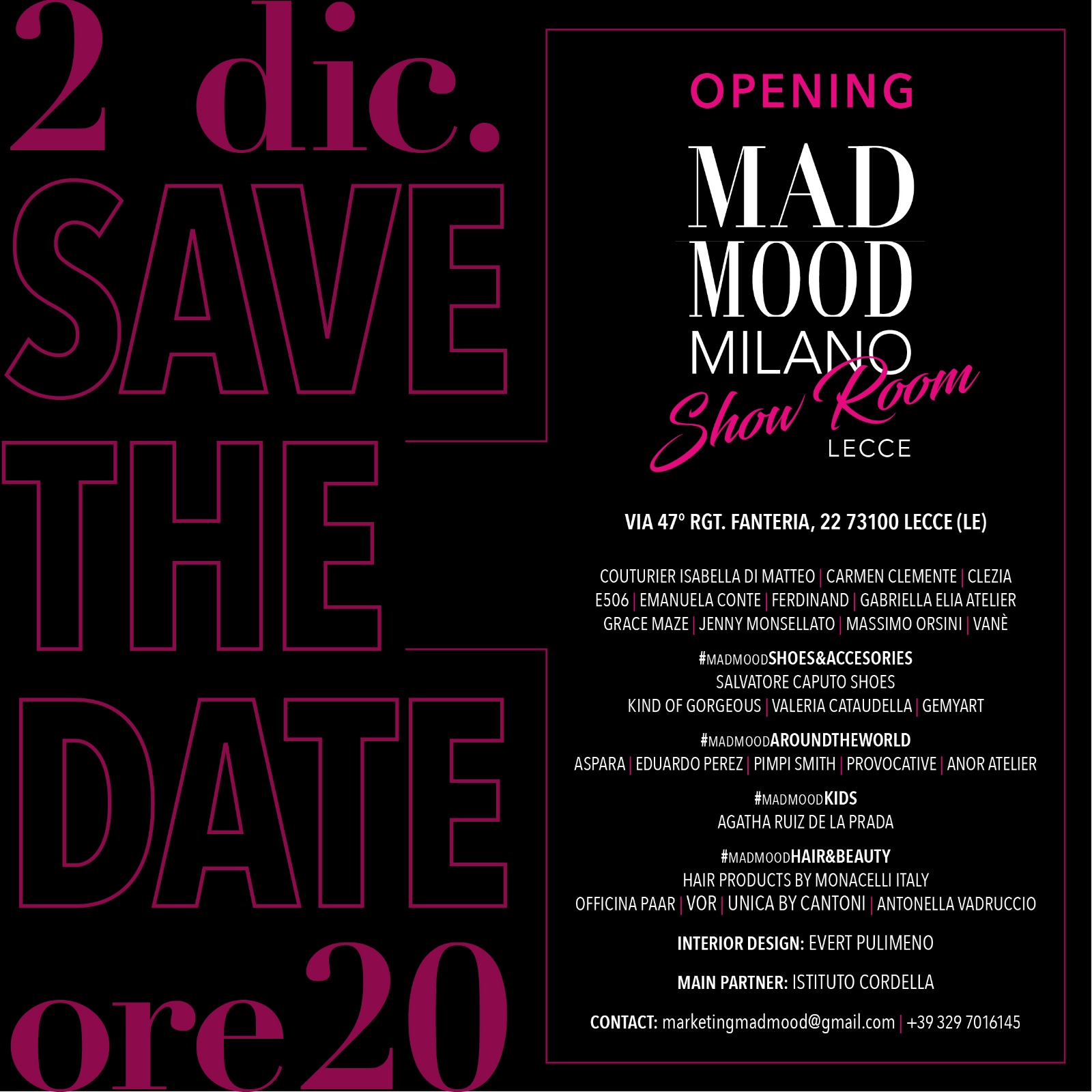 Evento lecce mad mood
