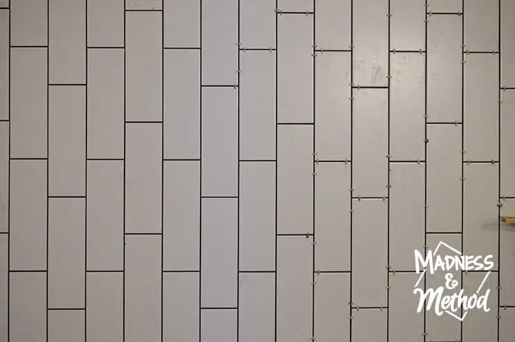 installing long subway tiles madness