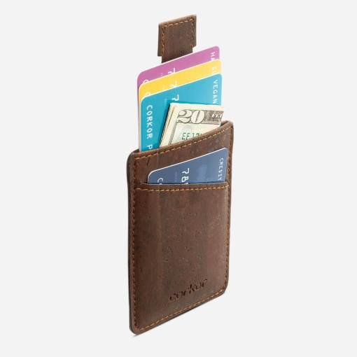 Porte carte marron en liège mixte