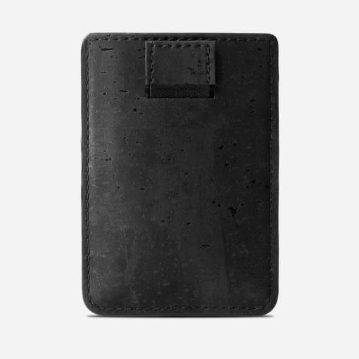 Porte cartes noir en liège mixte