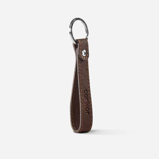 Porte-clés marron en liège pour femme et homme