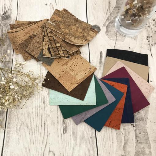 Echantillons de tissu liège