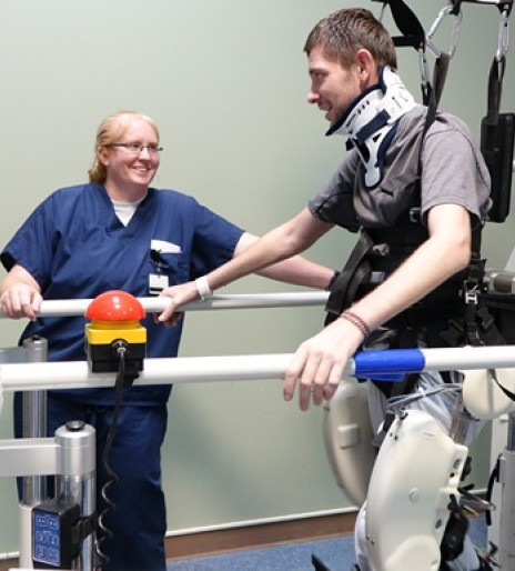 Spinal cord injury survivor determined to walk again ...