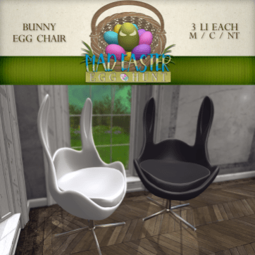 Bunny Egg Chairs 2500 Points
