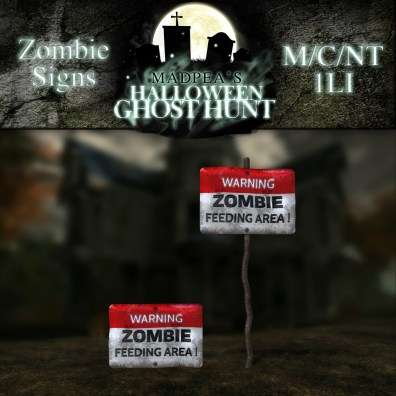 Zombie Signs - 500 points