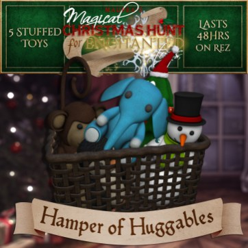"""Hamper of Huggables"" contains 5 Stuffed Toys and costs $3000L (you save $750L)"