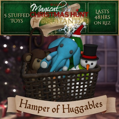 """""""Hamper of Huggables"""" contains 5 Stuffed Toys and costs $3000L (you save $750L)"""
