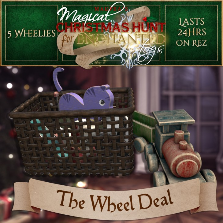 "The Wheel Deal"" contains 5 Wheelies and costs $2000L (you save $500L)"