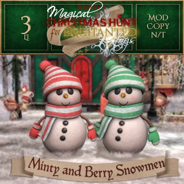 Minty & Berry Snowmen - 2000 Points