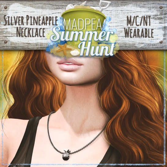 Silver Pineapple Necklace Prize