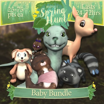 """The """"Baby Bundle"""" contains one of each Baby Animals, costs $3000L (you save $1000L)"""