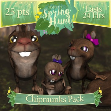 "The ""Chipmunk Pack"" costs $1275L, and has Momma, Daddy, Baby Chipmunk! (You save $225L)"