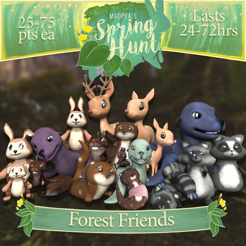 """The """"Forest Friends"""" contains 1 of each of the Animal Packs, 18 Animals in total, and costs $10,000L (You save $2000L)"""
