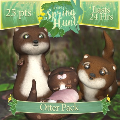 """The """"Otter Pack"""" costs $1920L, lasts 48 hours, and has Momma, Daddy, Baby Otter! (You save $225L)"""