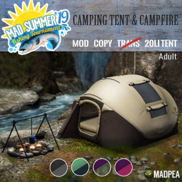MadPea Camping Tent & Campfire ADULT - 2996 MadPoints!