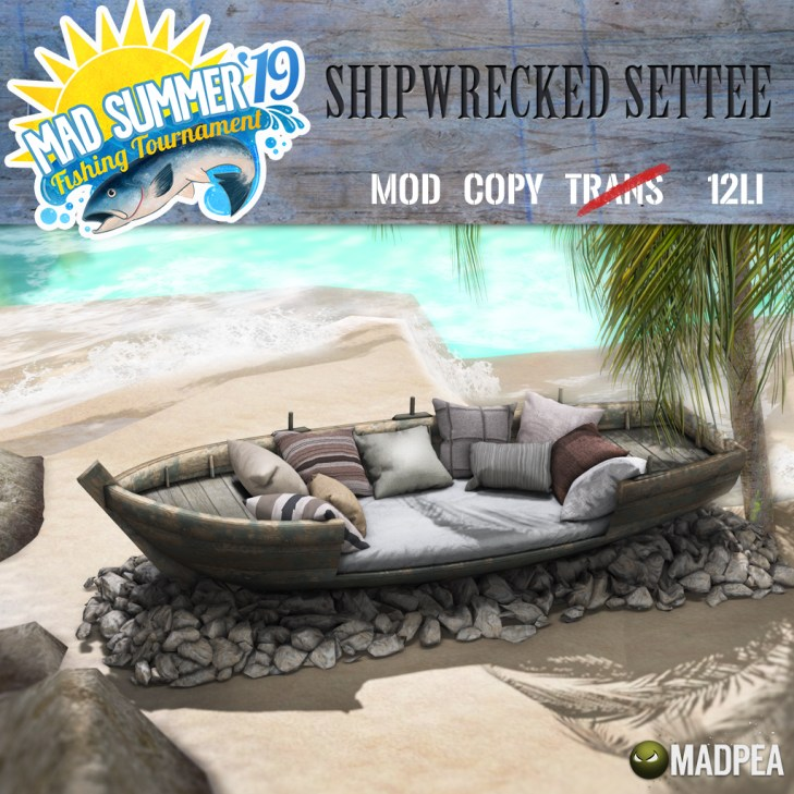 MadPea Shipwrecked Settee - 1196 MadPoints!
