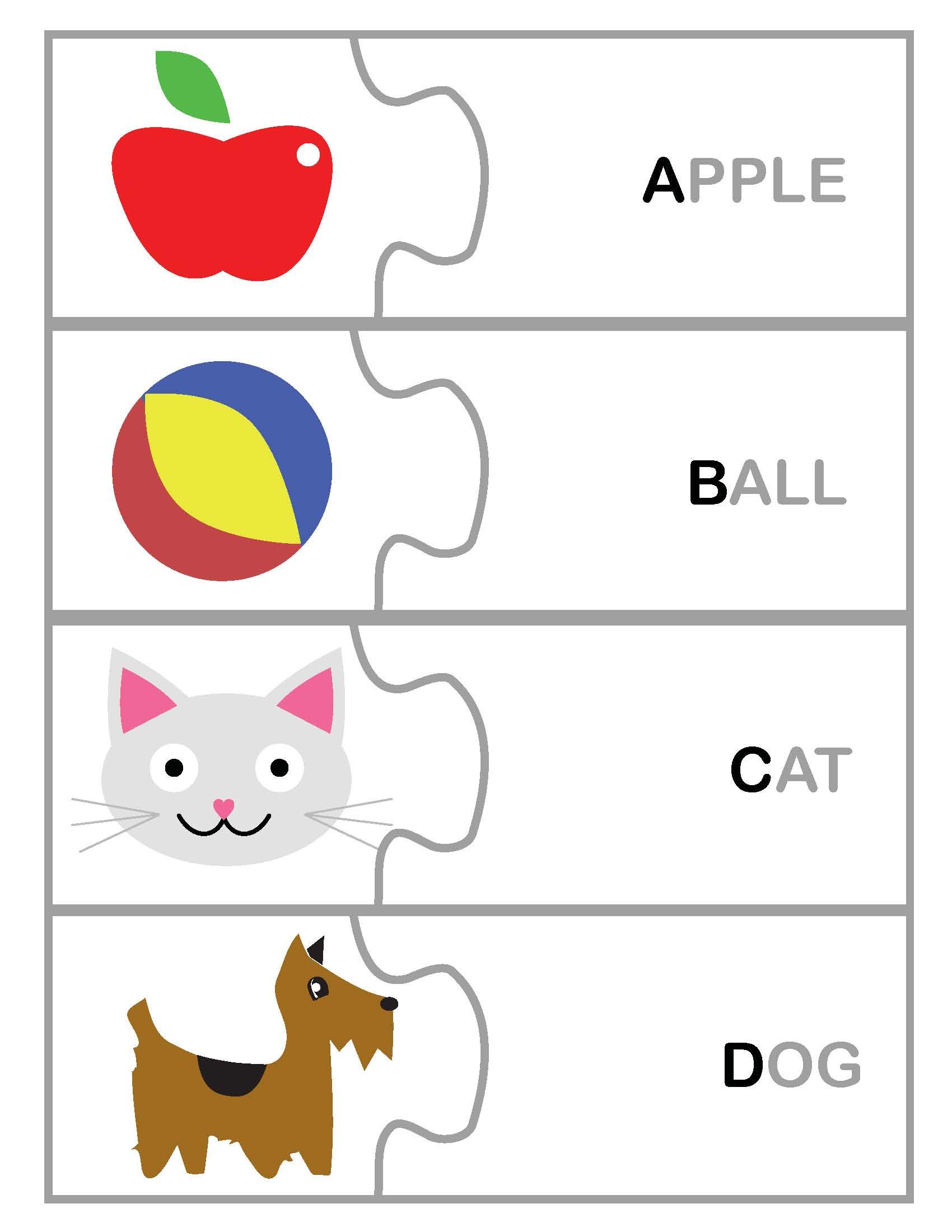 Freebie Toddler Pre K Letter Word Matching Printable Game