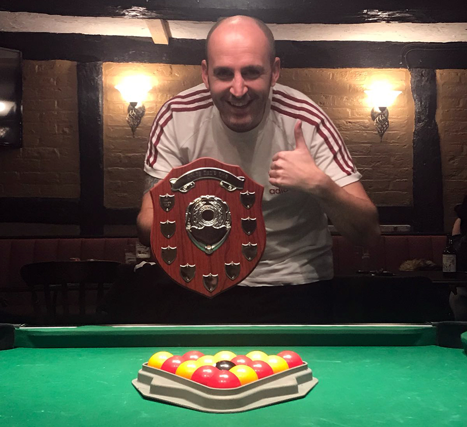 Well done to Phil Malam from the White Lion on winning the Singles 2018 KO 4-0