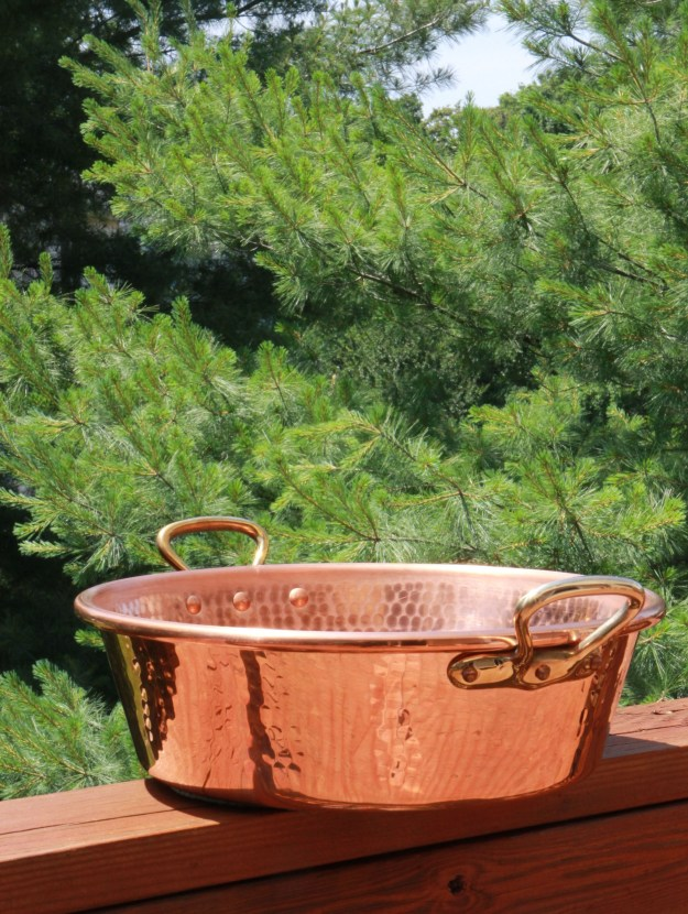 Copper preserve pot