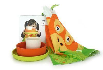 3 Vajillas de BAMBÚ ecológicas para niños