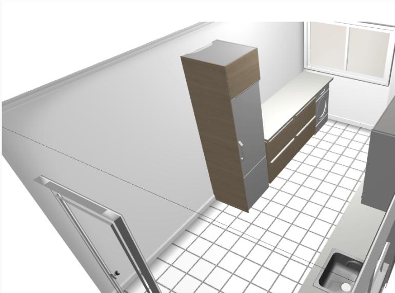 Cocina de Ikea Frente Secadora
