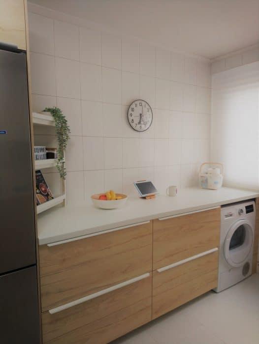 Zona de desayuno y lavandería de mi cocina de Ikea