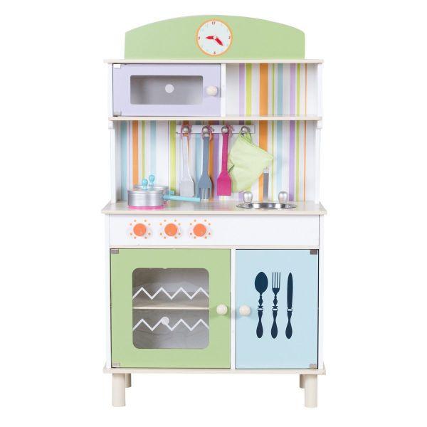 Costway Cocina Juego para niños Madera Cocina Juguete Infantil
