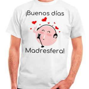 camiseta hombre buenos días madresfera