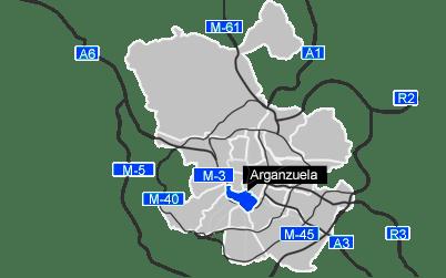 Mapa del distrito de Arganzuela