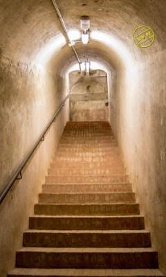Escalera de entrada, hoy cegada