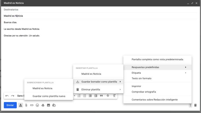 Respuesta predeterminado en Gmail