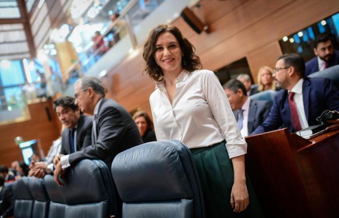 Díaz Ayuso, presidenta de la Comunidad de Madrid