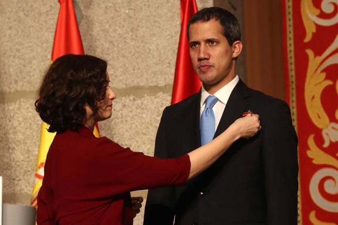 Madrid recibe con los máximos honores al presidente de Venezuela Juan Guaidó 6