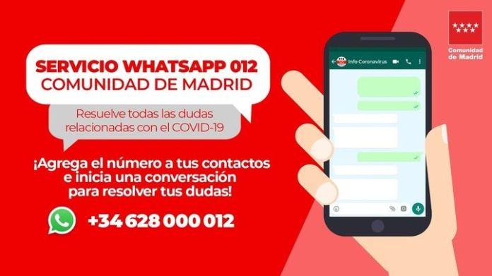 012Bot para ofrecer información sobre el COVID-19 a través de Whatsapp 1