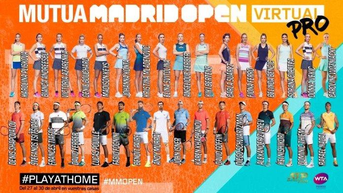 Comienza el 'Mutua Madrid Open Virtual Pro': partidos en directo 2