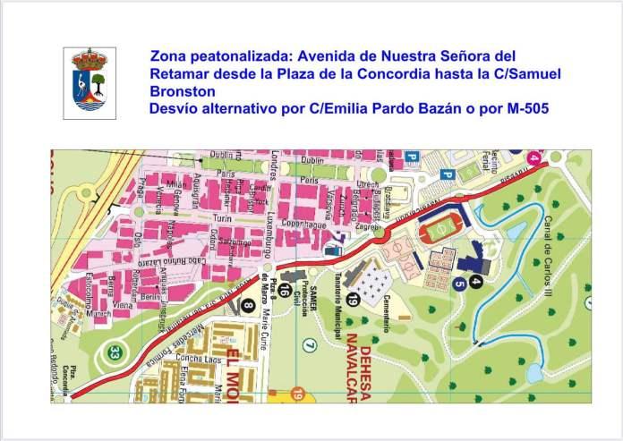 Las Rozas peatonaliza 4 km de calles para facilitar el distanciamiento social 4