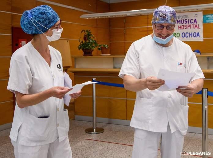 El CD Leganés homenajea a los sanitarios en su equipación 1