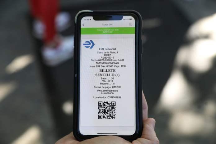 La EMT activa el pago por código QR del billete sencillo 2